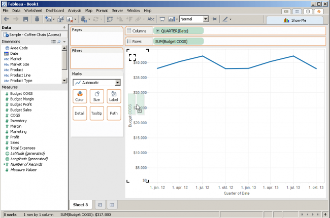 Multiple lines in Tableau | Inviso
